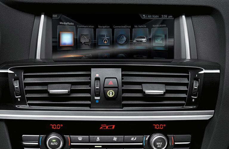 2017 BMW X3 infotainment system