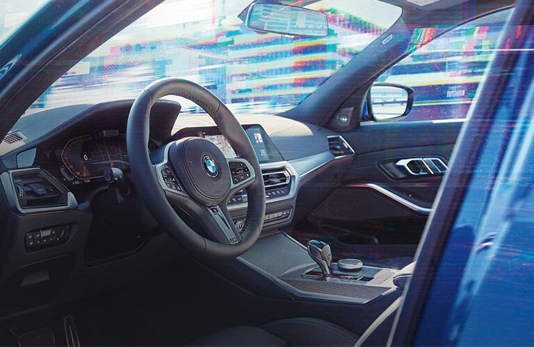 seating and steering wheel in 2019 bmw 3 series