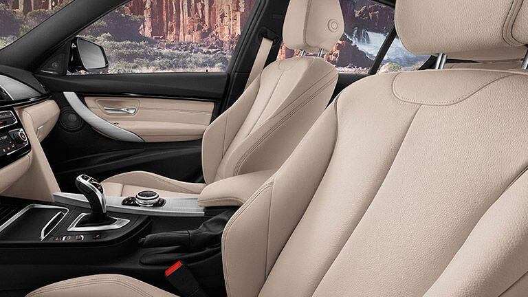 supportive seating and sleek interior lines of the 2016 BMW 3 Series