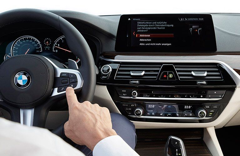 2017 BMW 5 Series Dashboard Close-up