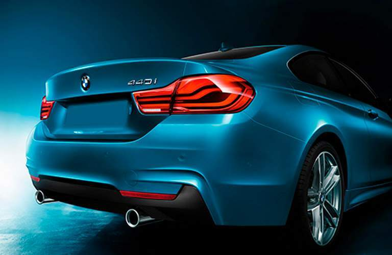 rear view of a blue 2018 BMW 440i