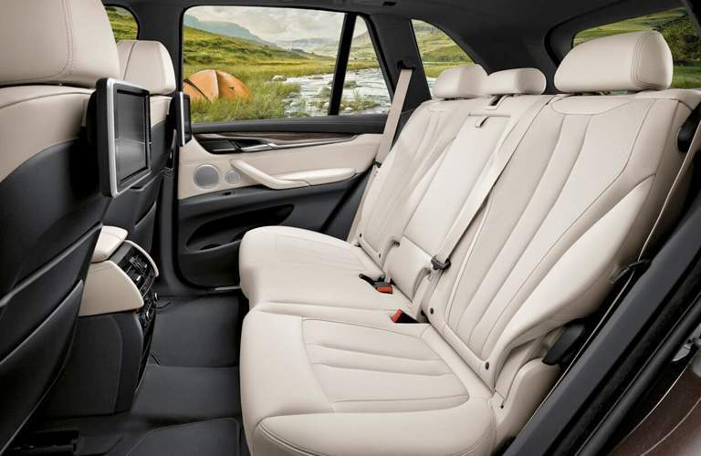 luxurious white rear seats of the 2018 BMW X5