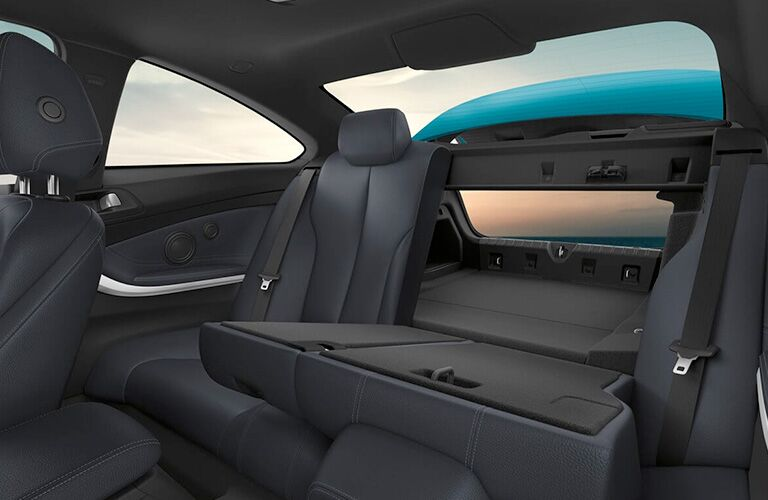 2019 BMW 4 Series Split Seat Folded Down Trunk Cargo Capacity