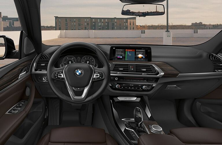 interior of 2019 bmw x3