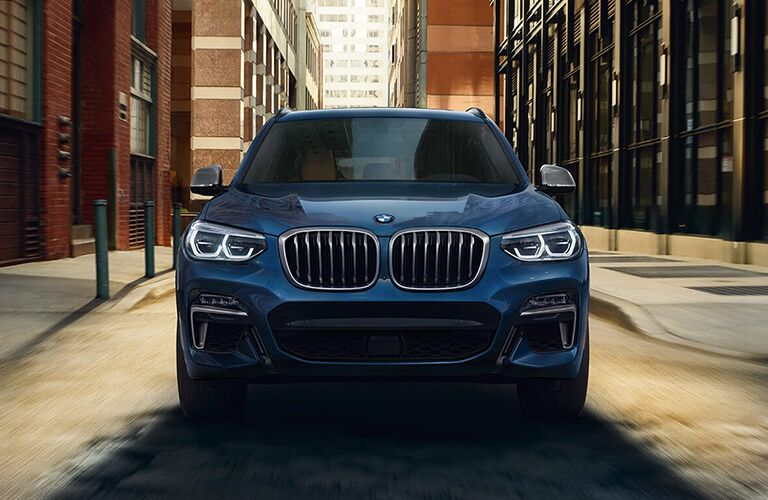 front shot of 2019 bmw x3