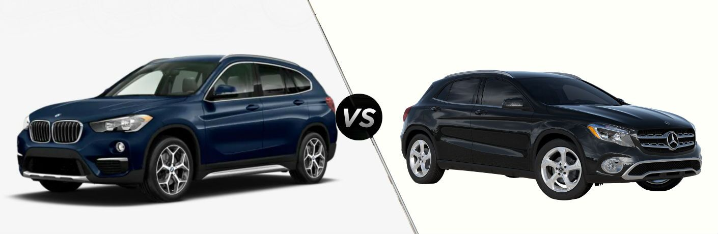 comparison between bmw x1 and mb gla for 2019