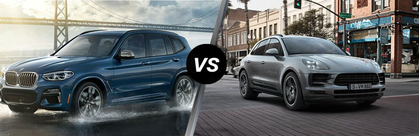 2019 BMW X3 Vs. 2019 Porsche Macan side by side comparison