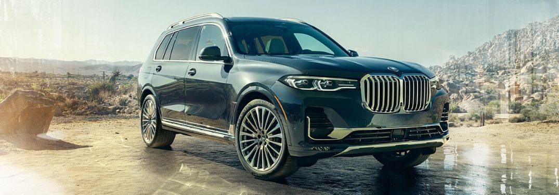 2020 BMW X7 parked on desert terrain