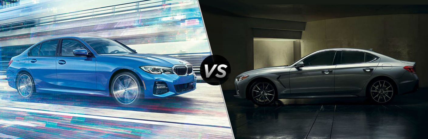 side by side comparison of 2020 BMW 3 Series Vs. 2019 Genesis G70
