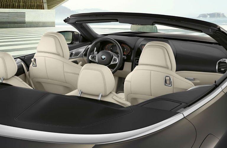 rear interior of 2020 bmw m8 cabriolet
