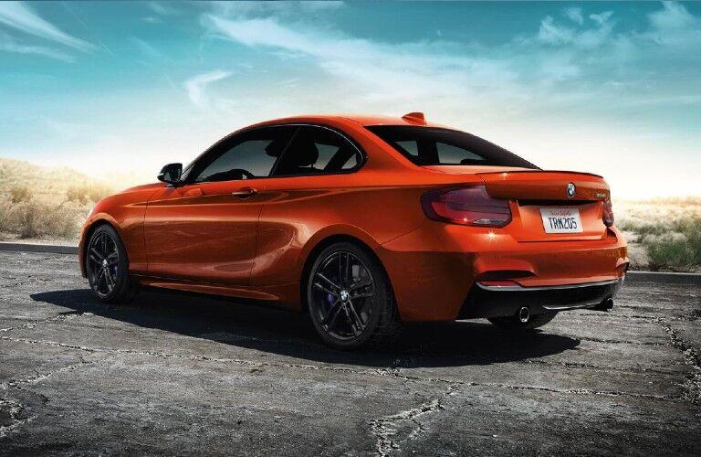 2021 BMW 2 Series on pavement in desert