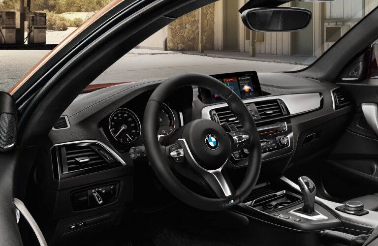 2021 BMW 2 Series dashboard and steering wheel