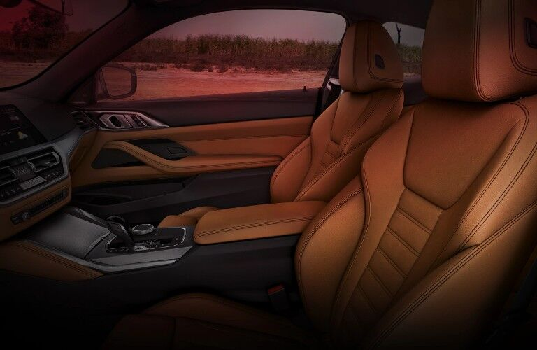 2021 BMW 4 Series interior front seats