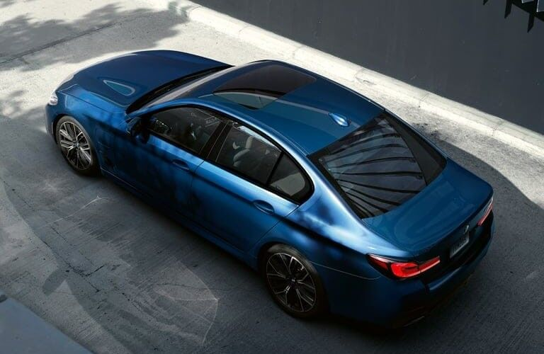 2021 BMW 5 Series viewed from above