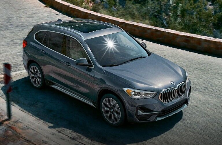 2021 BMW X1 on stone paved road