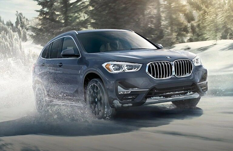 2021 BMW X1 in wintery weather
