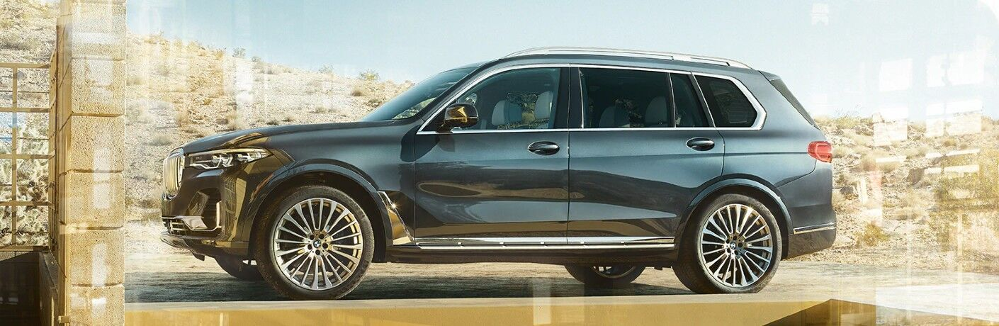 2021 BMW X7 on desert terrain