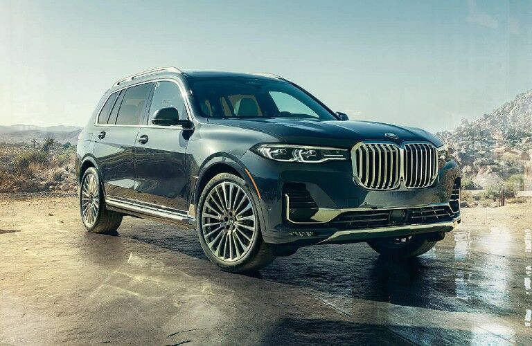 2021 BMW X7 in desert driveway