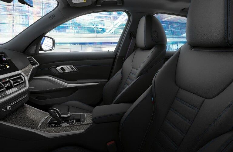 2021 BMW 3 Series front seats