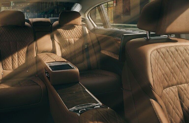 2021 BMW 7 Series leather upholstery and rear seats