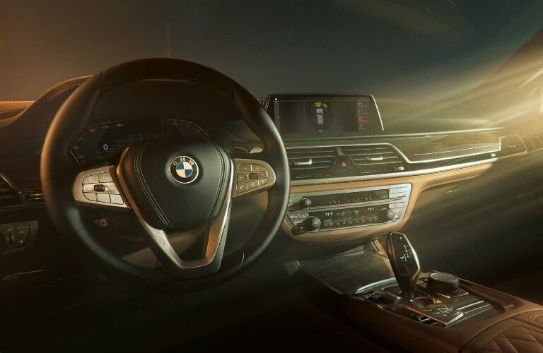 2021 BMW 7 Series dashboard and steering wheel