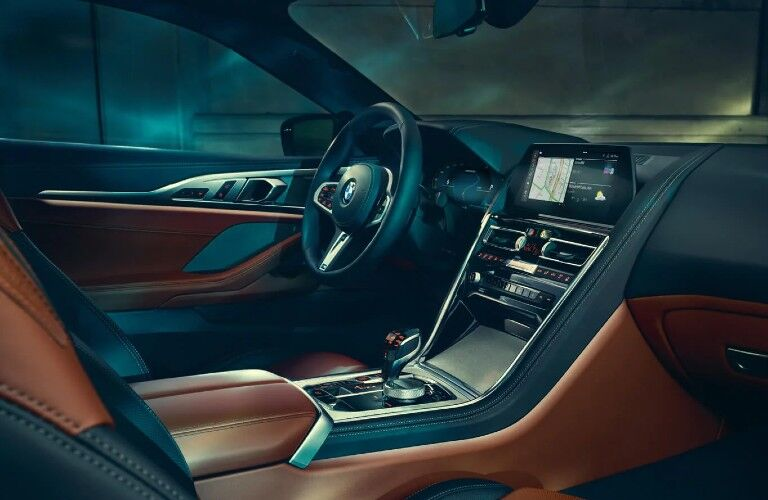 2021 BMW 8 Series front seats and dashboard