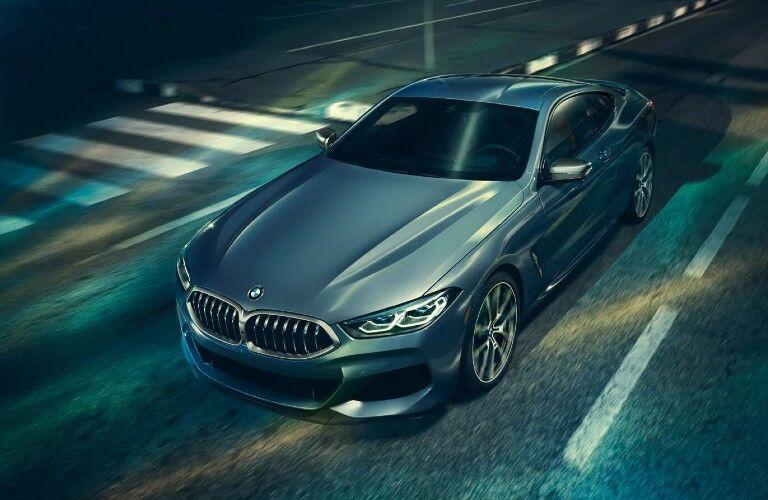 2021 BMW 8 Series on street at night