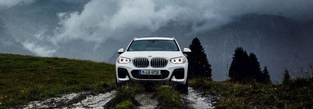 2021 BMW X3 on muddy trail