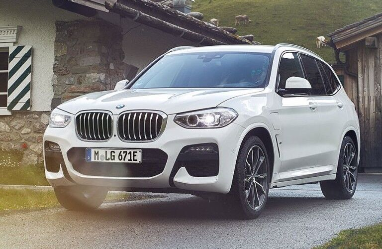 2021 BMW X3 in residential driveway