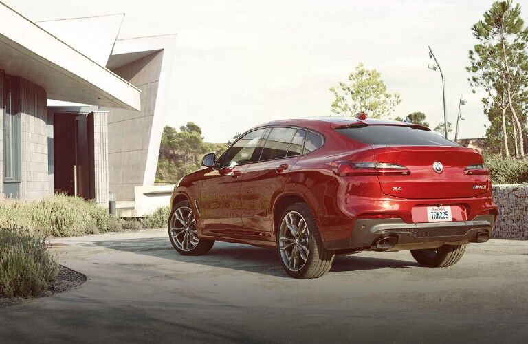 2021 BMW X4 viewed from rear