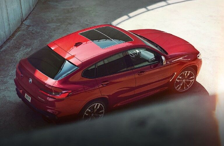 2021 BMW X4 viewed from above