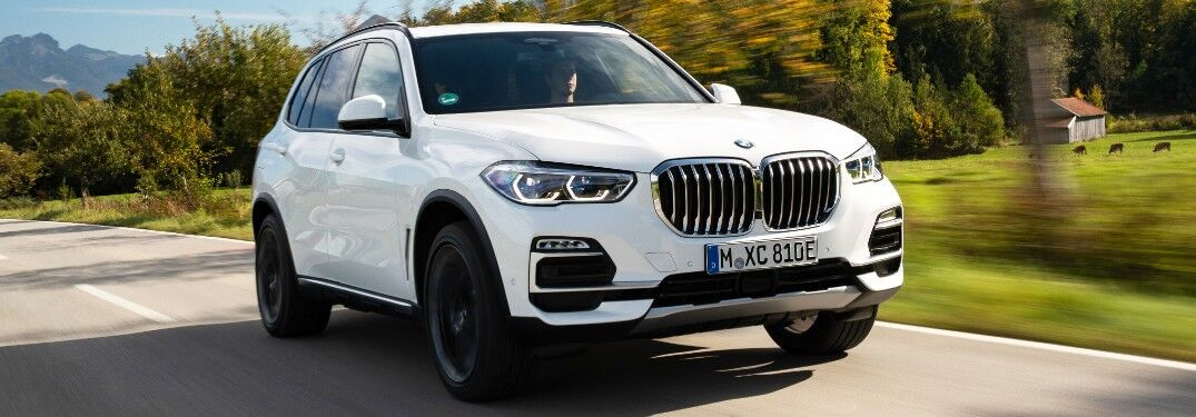 2021 BMW X5 on country road