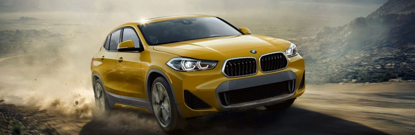 2022 BMW X2 on the road