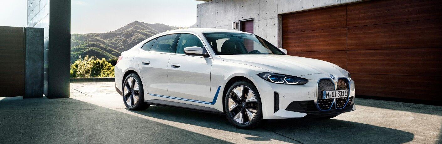 2022 BMW i4 in modern driveway