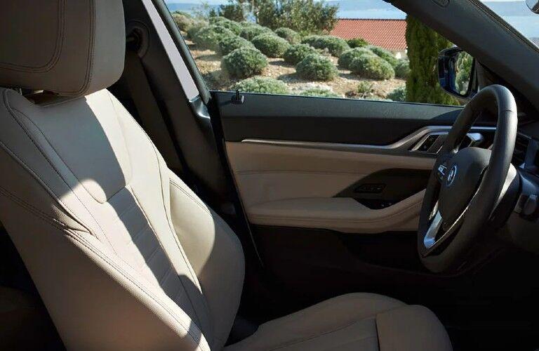 2022 BMW i4 front seats