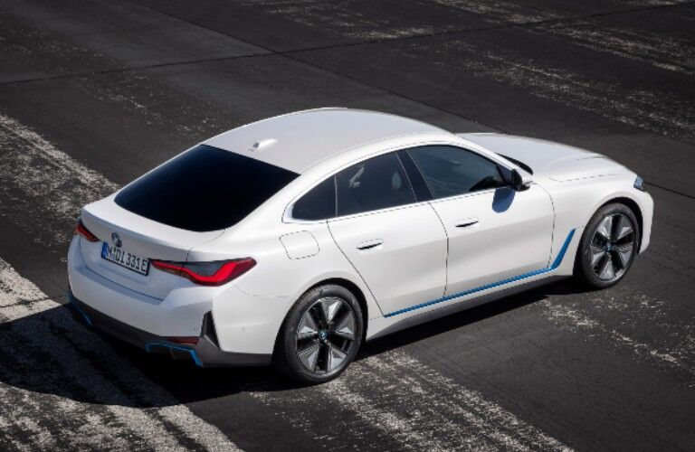 2022 BMW i4 exterior styling from rear