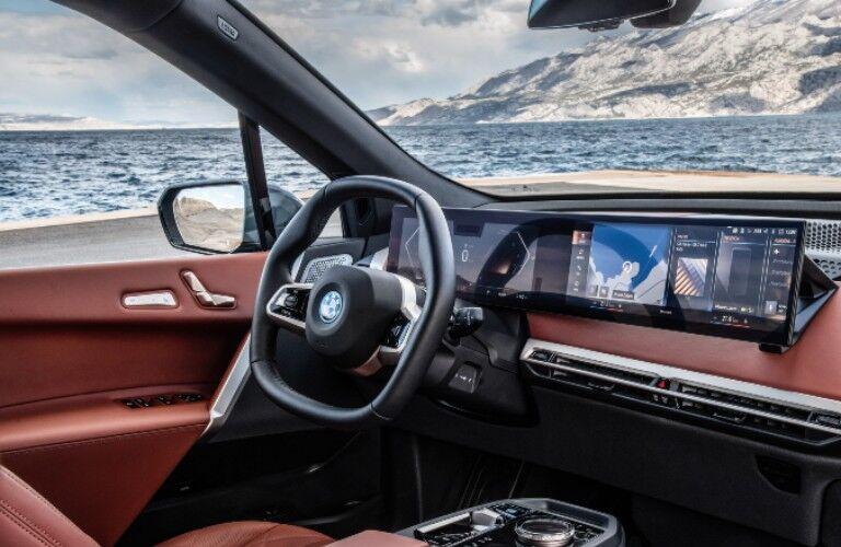 2022 BMW iX dashboard and steering wheel