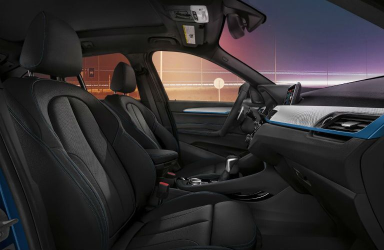 interior profile shot of front seat in 2019 bmw x1