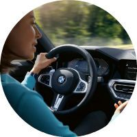 woman talking to bmw 3 series infotainment