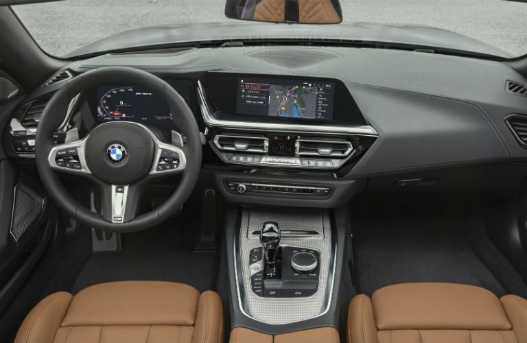 interior dashboard of 2019 bmw z4