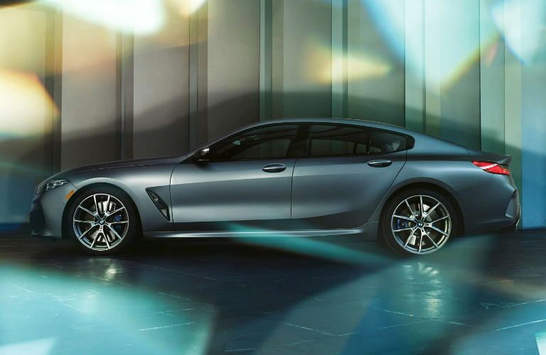 profile of 2020 bmw 8 series gran coupe