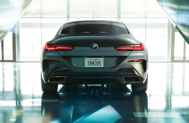 rear shot of 2020 bmw m850i