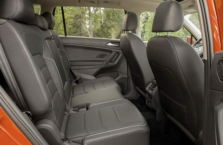 front seats and second row of the 2018 Volkswagen Tiguan
