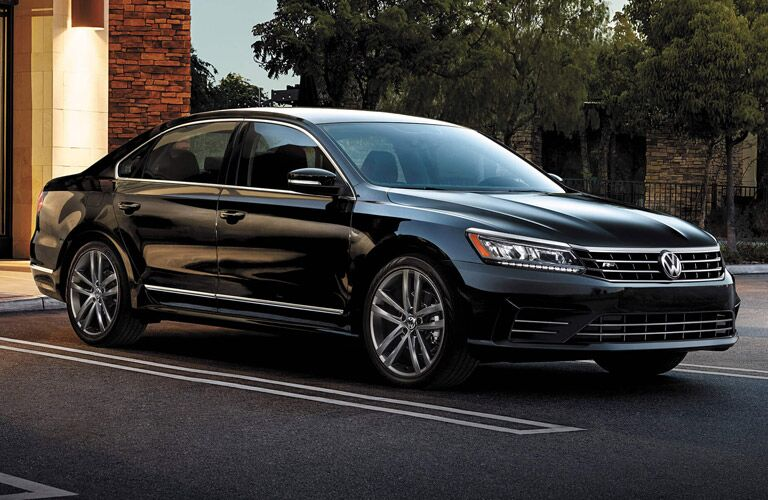 Long black Volkswagen sedan