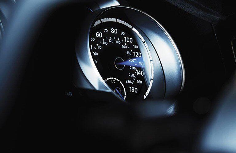 speedometer on the 2017 Volkswagen Golf R