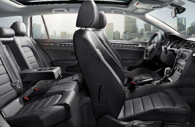 interior seating of the 2017 Volkswagen Golf SportWagen