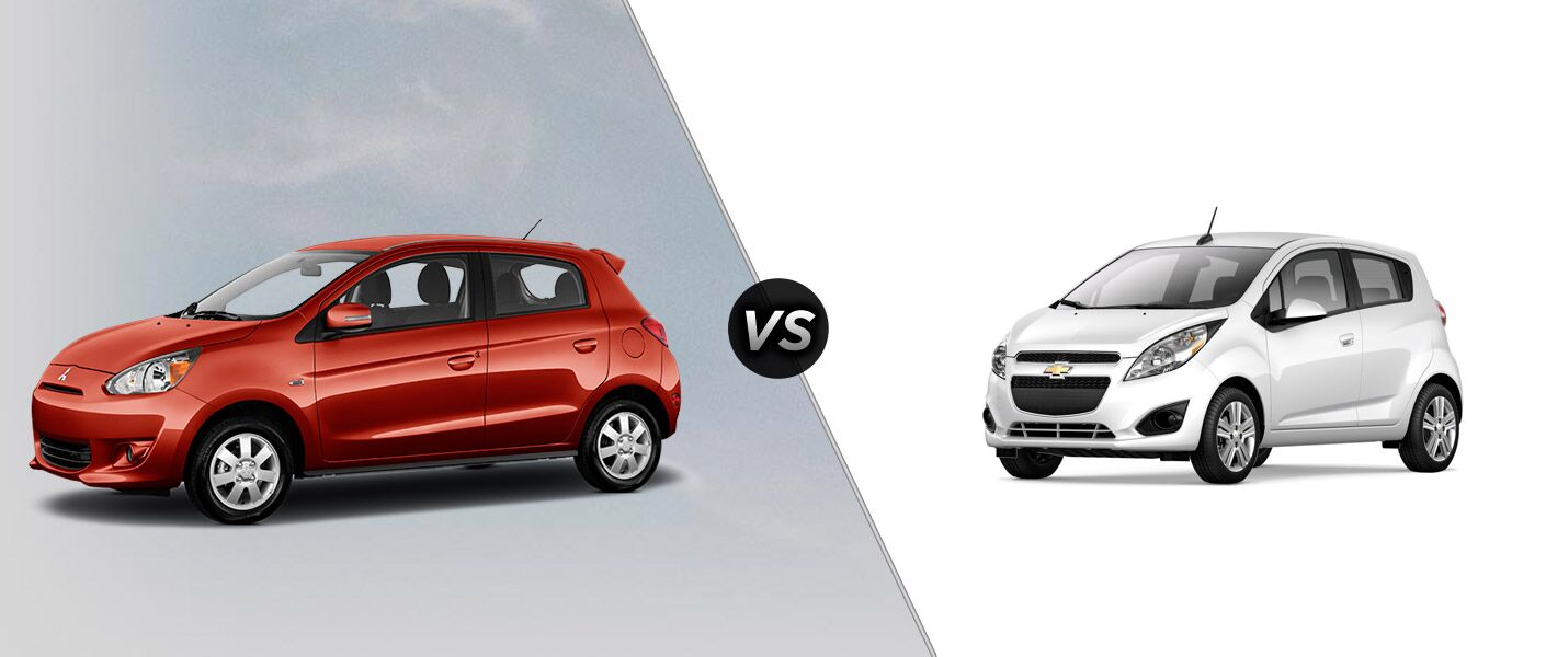 2015 Mitsubishi Mirage vs. 2015 Chevy Spark