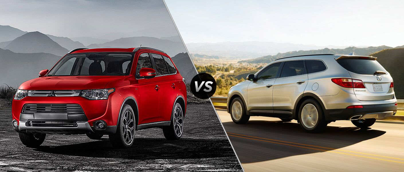 When comparing the 2015 Mitsubishi Outlander vs 2015 Hyundai Santa Fe, the Outlander proves itself to be the more durable vehicle.