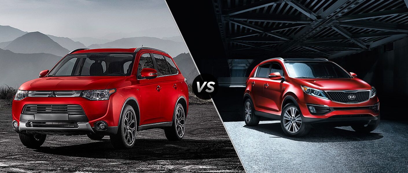 The 2015 Mitsubishi Outlander vs 2015 Kia Sportage comparison shows off the Outlander's efficiency and affordability.