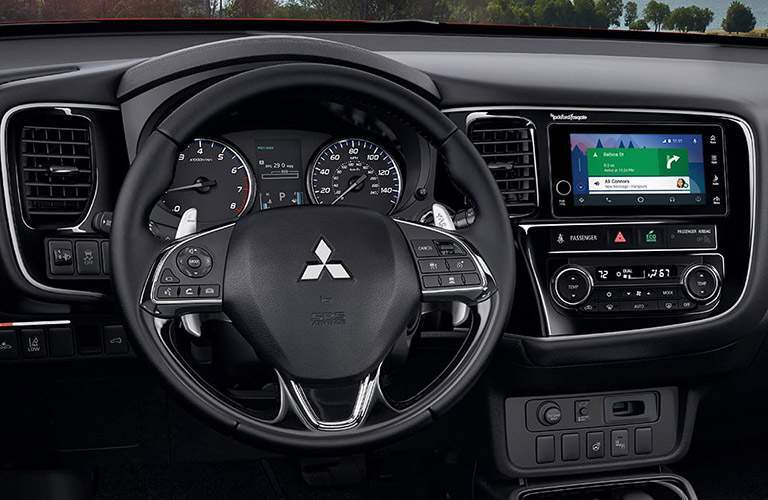 2017 Mitsubishi Outlander interior front steering wheel